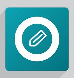 Flat pencil icon vector