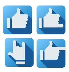 Flat style of like button for social networking vector image