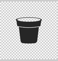 Flower pot icon isolated on transparent background vector