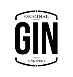 Gin fine spirit sign black vector