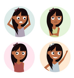 girls set isolated on white vector image