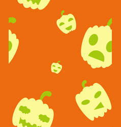 halloween festive pattern endless background with vector image