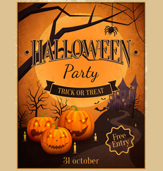 Halloween party trick or treat vector