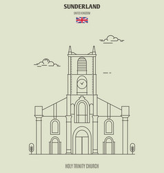 Holy trinity church in sunderland vector