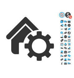 Homepage options gear icon with free bonus vector