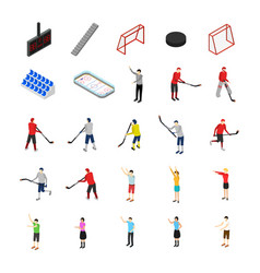 ice hockey competition concept icon set 3d vector image