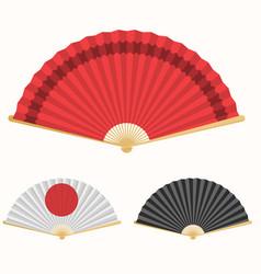 Japan folding fan japanese culture symbol hand vector
