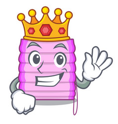 King window with blinds isolated on mascot vector