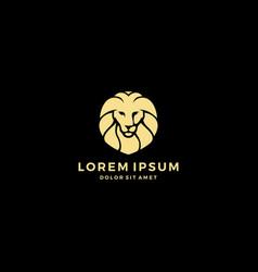 Lion head logo template icon vector