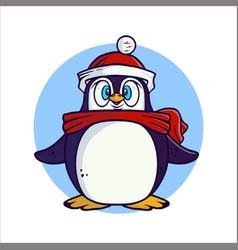 Little cute penguin vector