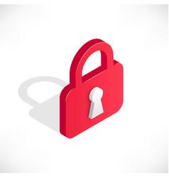 Lock isometric icon vector