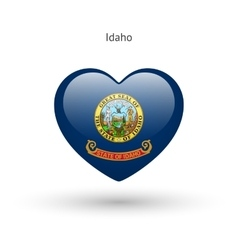 Love Idaho state symbol Heart flag icon vector image
