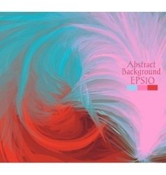 Macro feathers Turquoise pink red vector