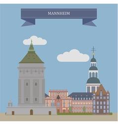 Mannheim vector image