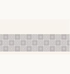 Modern geometric hand drawn woven squares border vector