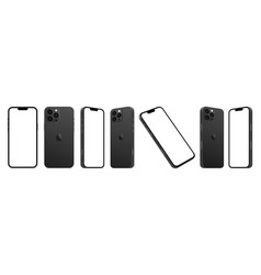 New iphone 13 pro smartphone mockup vector