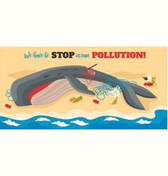 Ocean pollution isometric vector