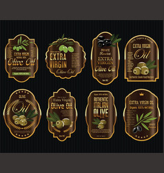 olive oil retro vintage background collection 5 vector image