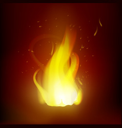 realistic flame vector image