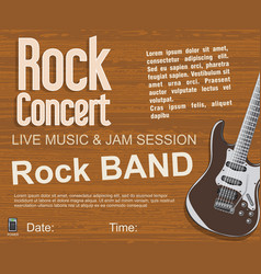 Rock concert retro vintage background vector