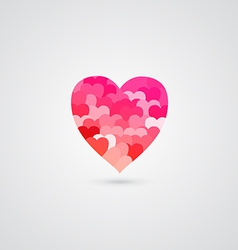 Shiny Rose Heart for Valentines Day vector image
