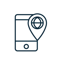 smartphone world location pin internet things vector image