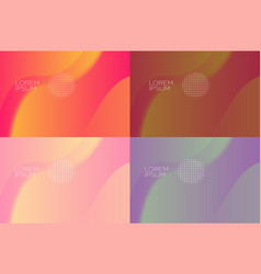 Smooth abstract colorful backgrounds set - eps10 vector