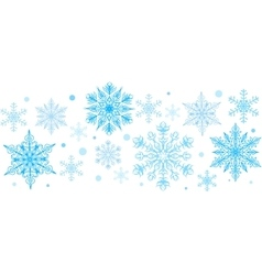 Snowflakes decorative element vector