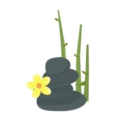 Stone flower and bamboo hygiene items vector image