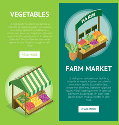 Street farm market food counter vector