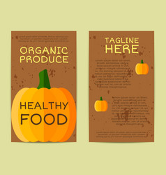 Stylish farm fresh flyer template or brochure vector