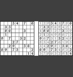 Sudoku game vector