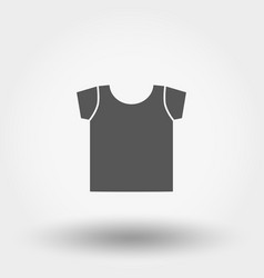 t-shirt icon silhouette vector image
