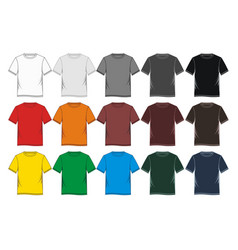 t-shirt template blank vector image