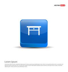 Table icon - 3d blue button vector