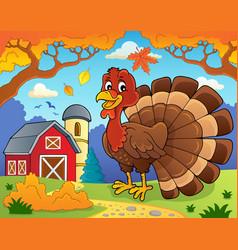 turkey bird theme image 2 vector image