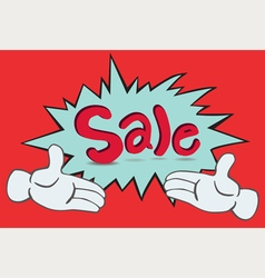 Two Hand Sale vector