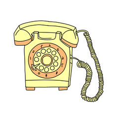 vintage telephone retro rotary plate antique vector image