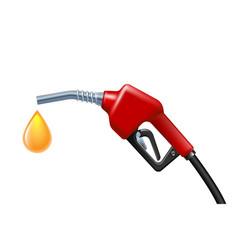 yellow drop petrol dropping from gas gun vector image