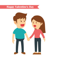 characters couples holding hands in happy vector image vector image