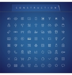 Construction Thin Icons Set vector image