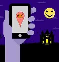 Halloween Night Party vector image