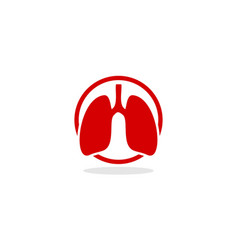 lung logo icon vector image vector image