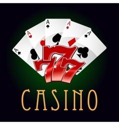 Luxury casino an gambling icon vector image vector image