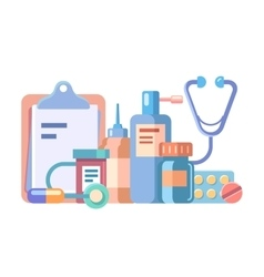 Medication and medical accessories vector image
