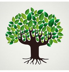 Nature care concept leaves tree vector image
