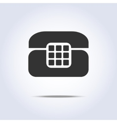 Phone retro icon in gray colors vector image vector image