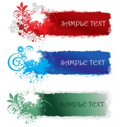 set of splatter banners vector image