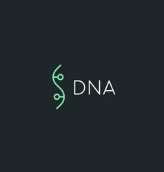 bio dna logotype linear medicine science lab vector image vector image
