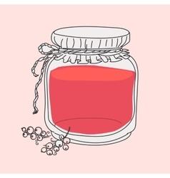 cartoon jam jar vector image vector image